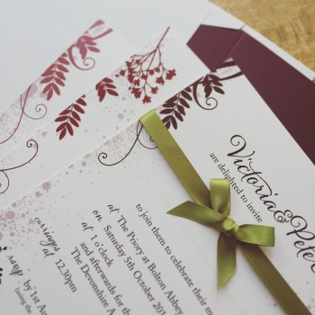 Country Meadow wedding stationery
