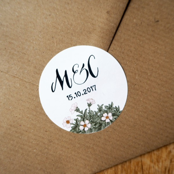 Personalised envelope stickers