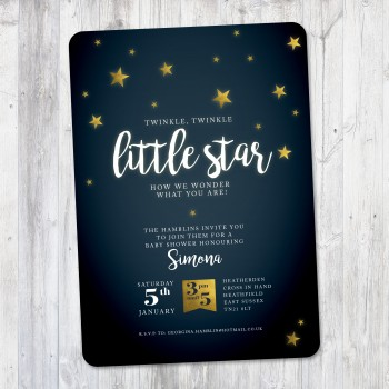 Little Star baby shower invitation